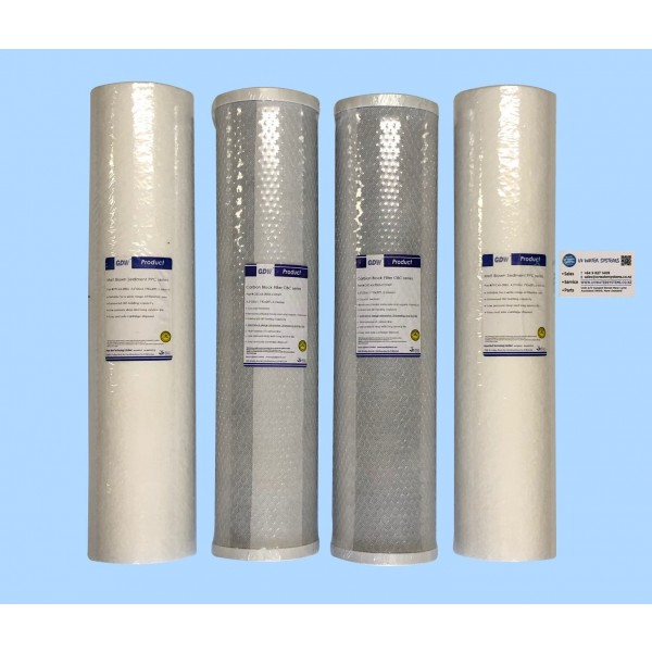 "Cartridge set of 4 f/ 20"" Jumbo Filters"
