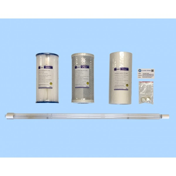 Service kit for 3 filter UV system