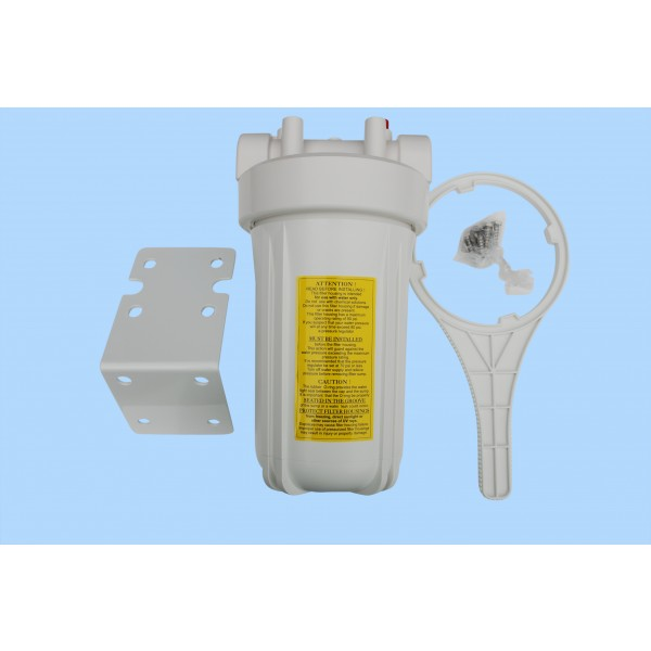 White Jumbo 10 inch Filter Housing NSF approved With Gauge holes.