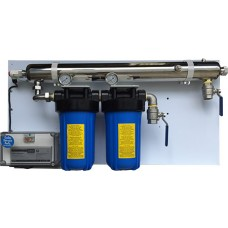 2 Filter Residential UV Water System (with cover)